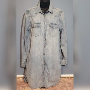 GAP 1969 DENIM WESTERN SHIRT DRESS